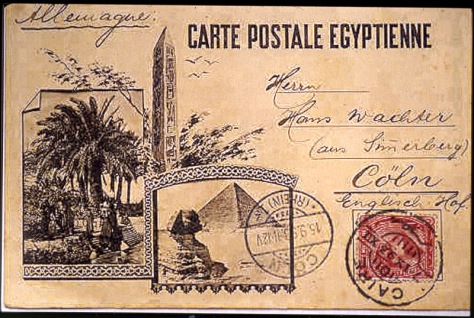 Post Card fro Egypt 1893